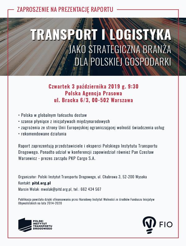 Transport i Logistyka jako strategiczna branża dla polskiej gospodarki